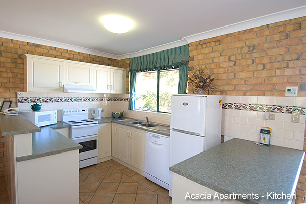 Acacia Apartments - Well Equipped Kitchens