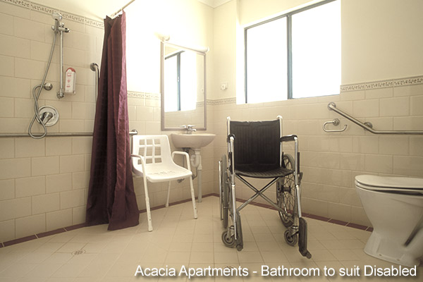 Disability Bathoom - Acacia Apartment Accommodation